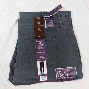 Gloria Vanderbilt jeans 18 short gray tapered leg